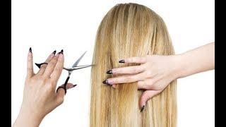 Как подстричь волосы самостоятельно женская Стрижка✂️