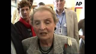 Frmr US Sec of State Albright reacts to death of Boris Yeltsin, nigerian elex