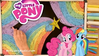 My Little Pony ♫ 8 HOURS of Chalk Art + Lullaby for Babies