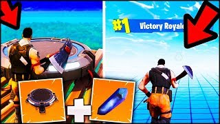 WHAT HAPPENS USING : LAUNCH PAD - ANTI-GRAVITY CRYSTALS? FORTNITE ITA REAL VITTORY