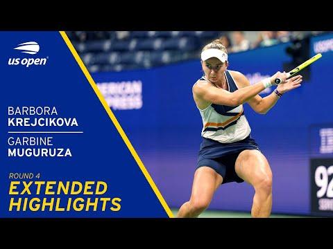 Barbora Krejcikova vs Garbine Muguruza Extended Highlights   2021 US Open Round 4