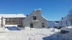 Sainte-Eulalie en Ardèche sous la neige ...