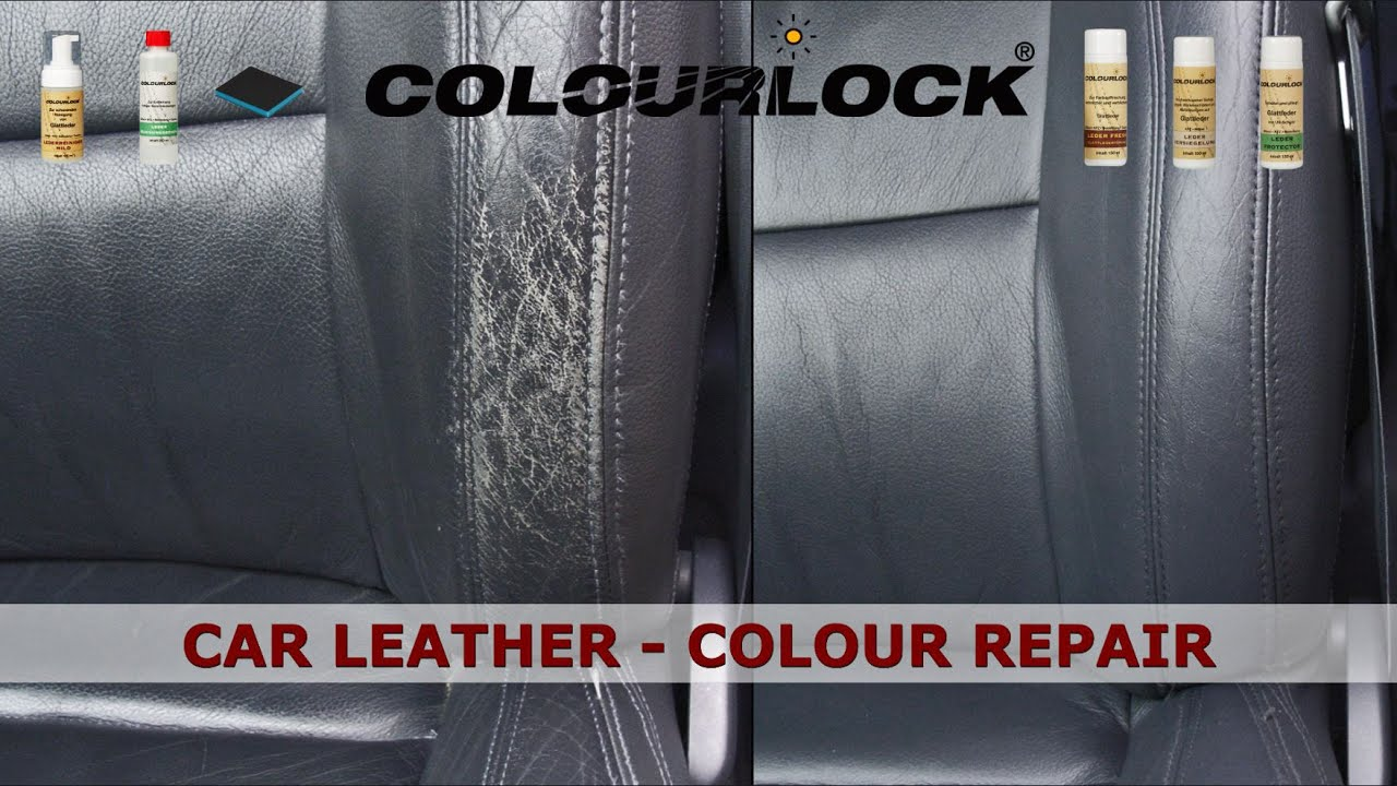 car leather cleaning colour repair care youtube. Black Bedroom Furniture Sets. Home Design Ideas