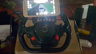 homemade steering wheel with pedal on Android