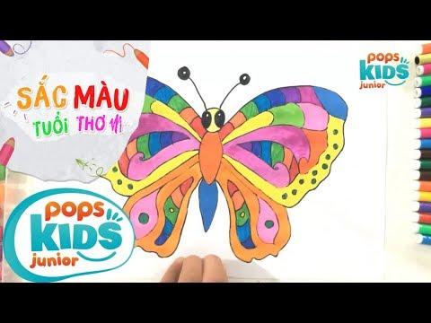 Sắc Màu Tuổi Thơ – Tập 50 – Bé Tập Vẽ Con Bướm | How To Draw Colorful Butterfly