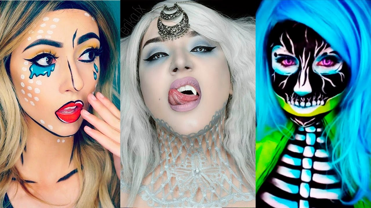 top 17 diy halloween makeup tutorials compilation 2017 youtube