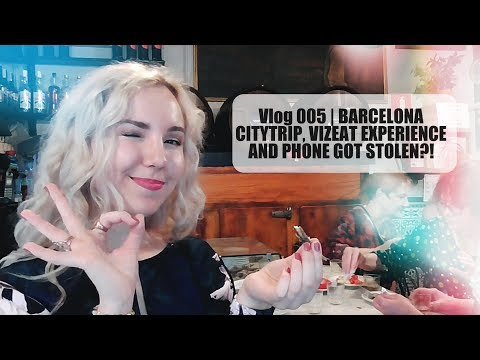 BARCELONA CITYTRIP, VIZEAT EXPERIENCE AND PHONE DISASTER! | Vlog 005 | Lady Goldapple