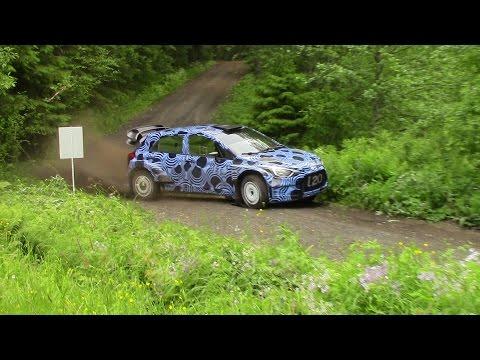 Hyundai I20 WRC Test Rally Finland 2015
