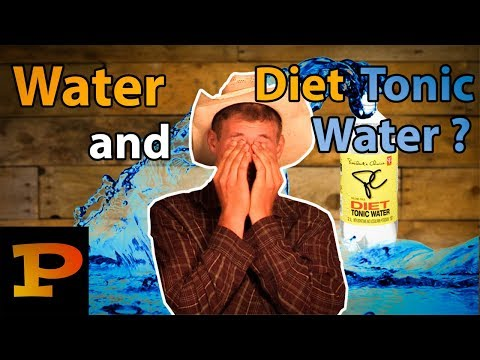 Diet Tonic Water Chugging Contest! ~ Diet Tonic Water + Water