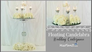 DIY Tall Floating Candle Centerpiece |DIY Glam Centerpiece | DIY Tutorial