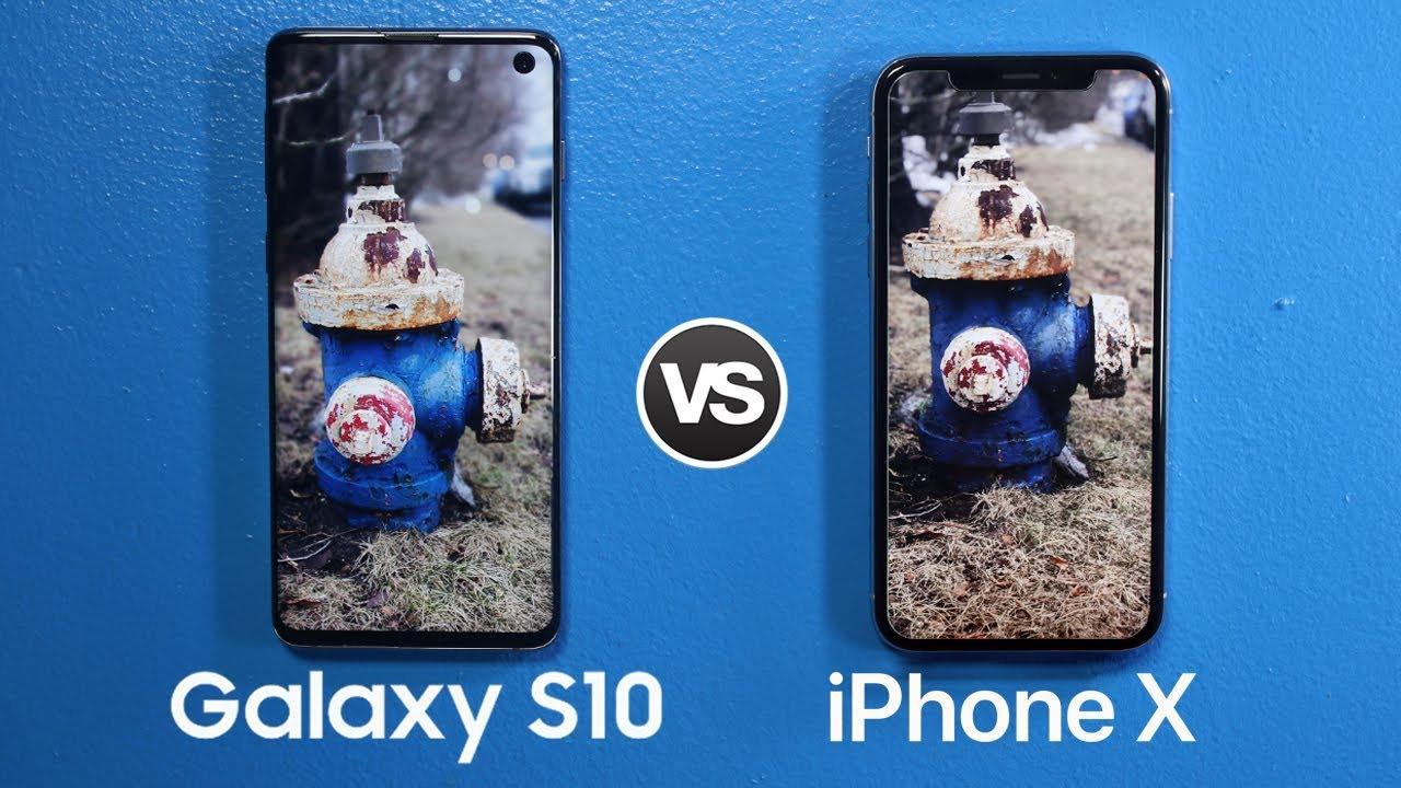Samsung Galaxy S10 vs iPhone X Camera Test Comparison!