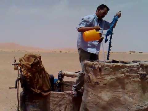 Start Water Pump in Sahara Desert Morocco