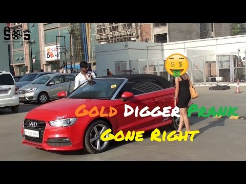 SUPERCAR GOLD DIGGER PRANK [] INDIA 2017