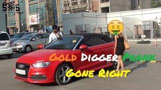 SUPERCAR GOLD DIGGER PRANK [] INDIA 2017