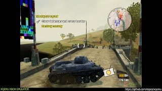 XQEMU Xbox Emulator - Panzer Elite Action Fields of Glory Ingame - realtime! (WIP)