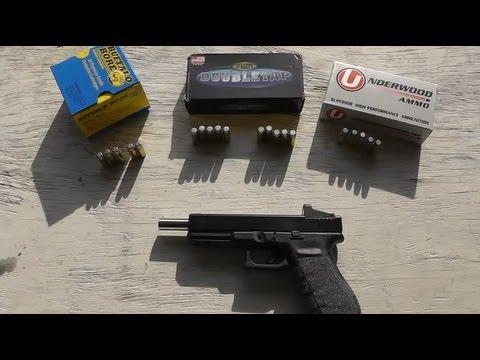Glock 20 10mm - Hard Cast Ammo Test - Accuracy, Velocity