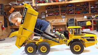 Youtube Gold: New Volvo A40g Articulating Dump / Rock Truck 2019 (1/14 Scale) | Rc Adventures