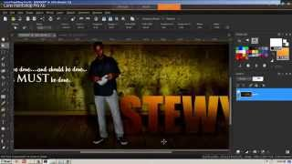 Corel Paint Shop Pro X6 Tutorial (FULL HD) - Graphic Design, Lighting and Shadows