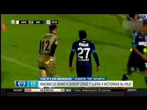 Godoy Cruz vs Racing Club 1-2 - Resumen y Goles | Superliga Argentina 2018 Fecha 17