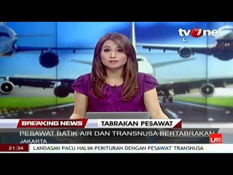 KRONOLOGI Tabrakan Batik Air vs Trans Nusa Di Runway Bandara Halim , Terjadi Kebakaran Say