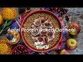 Apfel Protein Baked Oatmeal - Gesunder Haferflocken Auflauf, Meal Prep