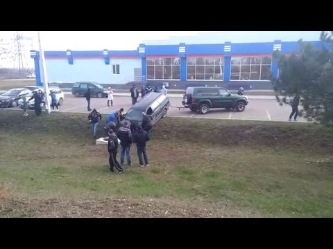 Авария в Тирасполе на парковке