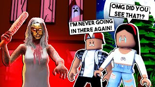 WE VISITED A HAUNTED HOUSE at 3am! *MY BOYFRIEND CRIED!* - Roblox Scary Story