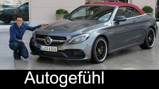 Mercedes-AMG C63S V8 Convertible FULL REVIEW test driven 510 hp all-new neu 2017 2016 - Autogefühl