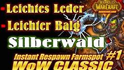 WoW CLASSIC Instant Respawn Farmspot #1: Leichtes Leder & Leichter Balg| Silberwald