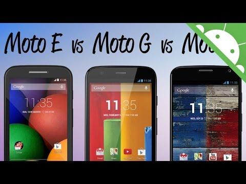Motorola Moto E vs Moto G vs Moto X