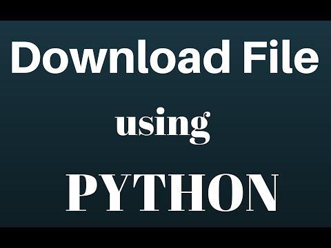 Download File Using Python