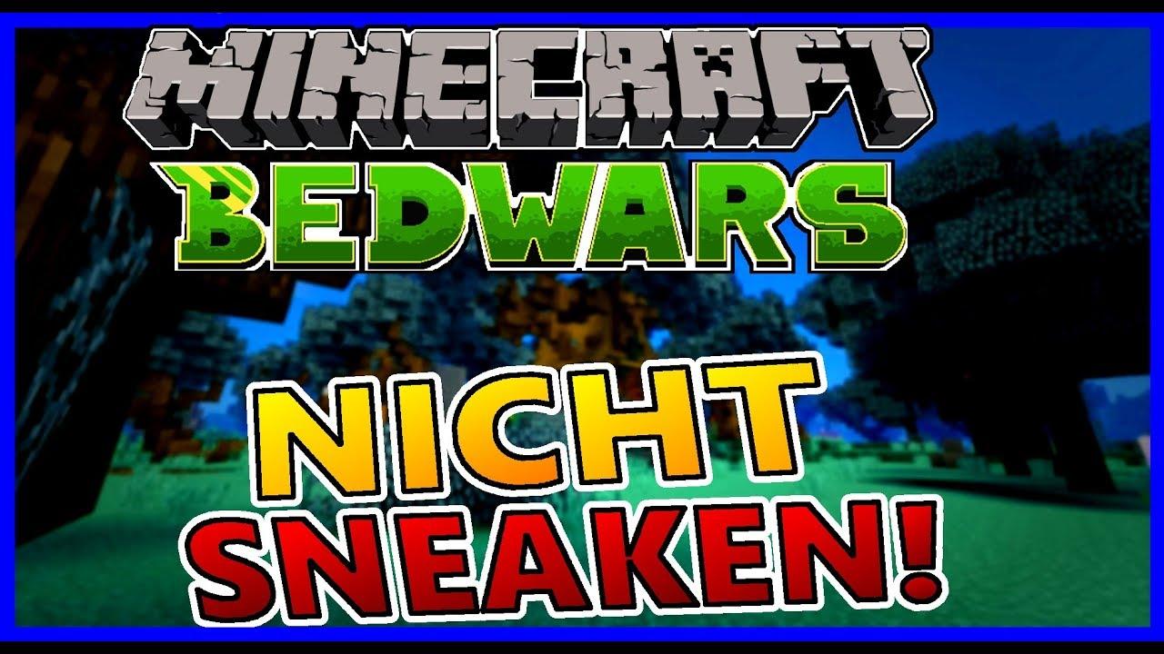 Minecraft BedWars Spielen Ohne Sneaken Challenge YouTube - Minecraft bedwars jetzt kostenlos spielen
