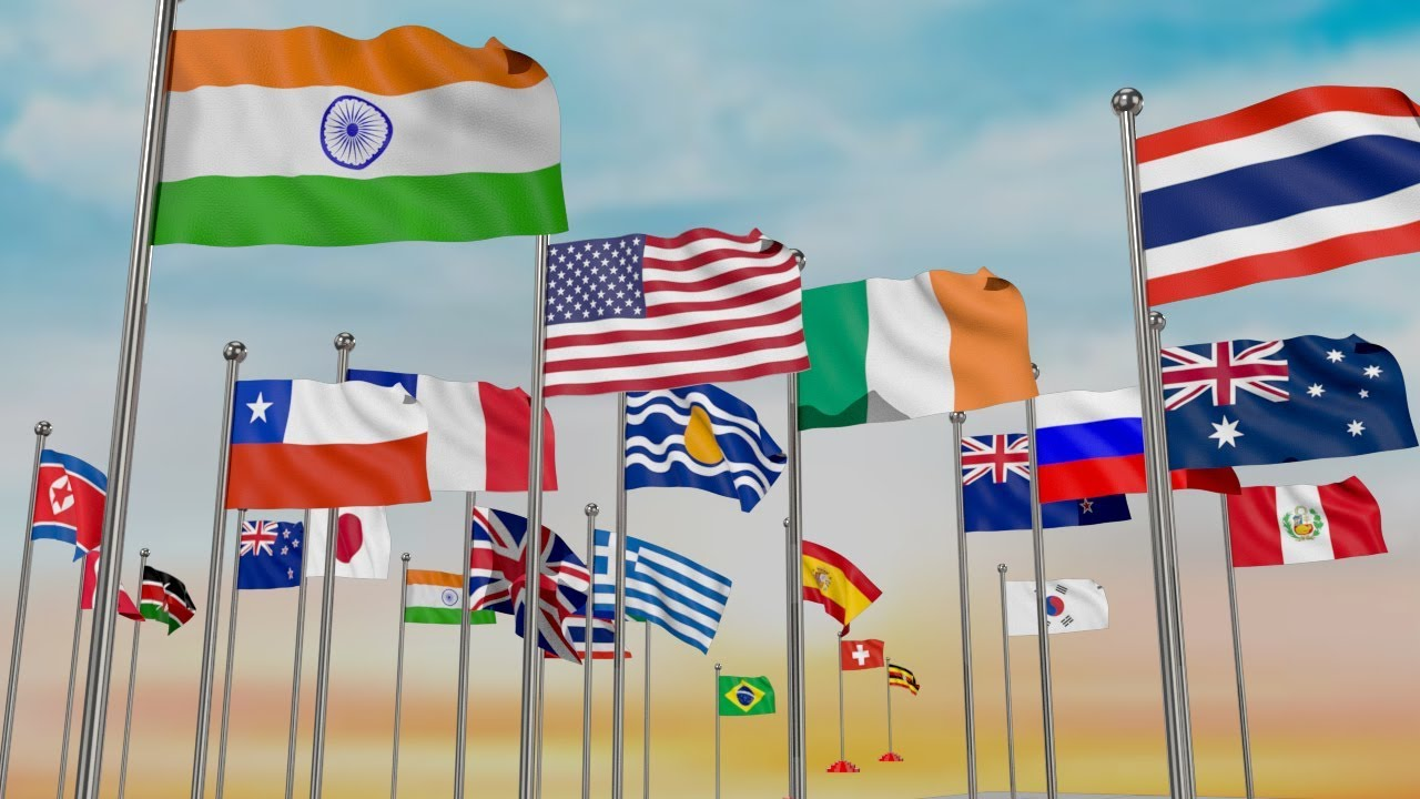 Download The Countries and flags of the World | Countries National Flags with their Population