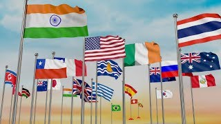 The Countries and flags of the World Song | Flags of the world  | All flags names by population rank