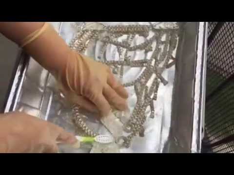 How to clean Hmong necklace Xauv Paug # 3 with tarn x