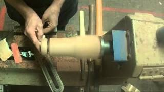 Turning A Small Candle Holder