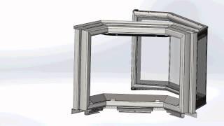 Дверца каминной топки Жарко Prizma. Каминная дверка 3D(, 2015-09-07T22:34:16.000Z)