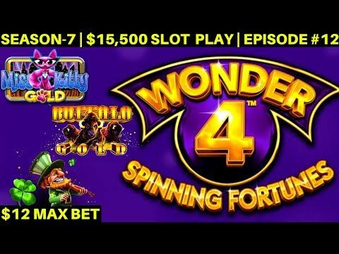 WONDER 4 Spinning Fortunes Slot Machine MAX BET Bonuses Won   | SEASON-7 | EPISODE #13
