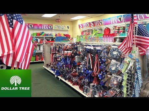 DOLLAR TREE FOURTH OF JULY DECOR - JULY 4TH HOME DECOR SHOP WITH ME SHOPPING STORE WALK THROUGH 4K