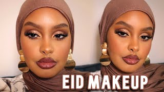 FLAWLESS EID SOFT GLAM MAKEUP LOOK ✨ *using a full face of rare beauty* | Jasmine Egal