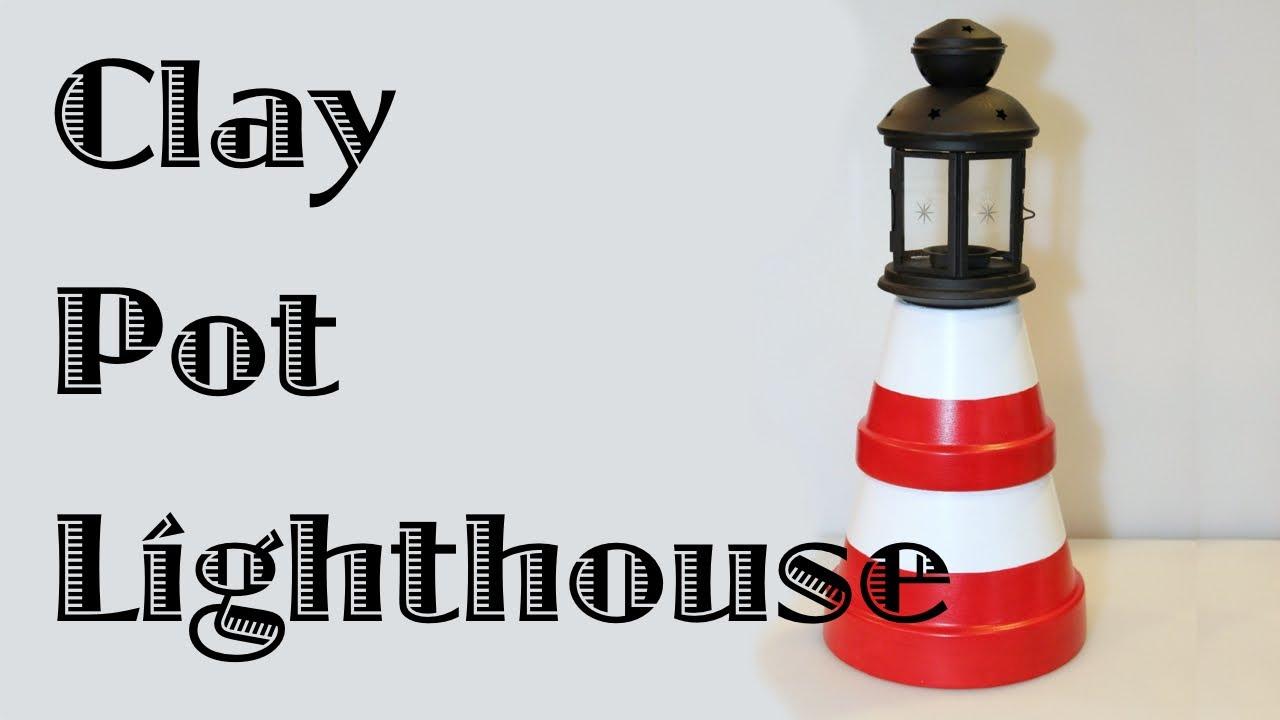 How to Make a Terra Cotta Clay Pots Lighthouse Plant Pot Lighthouse on clay pot lighthouse, diy flower pot lighthouse, plant container lighthouse, cat pot lighthouse,