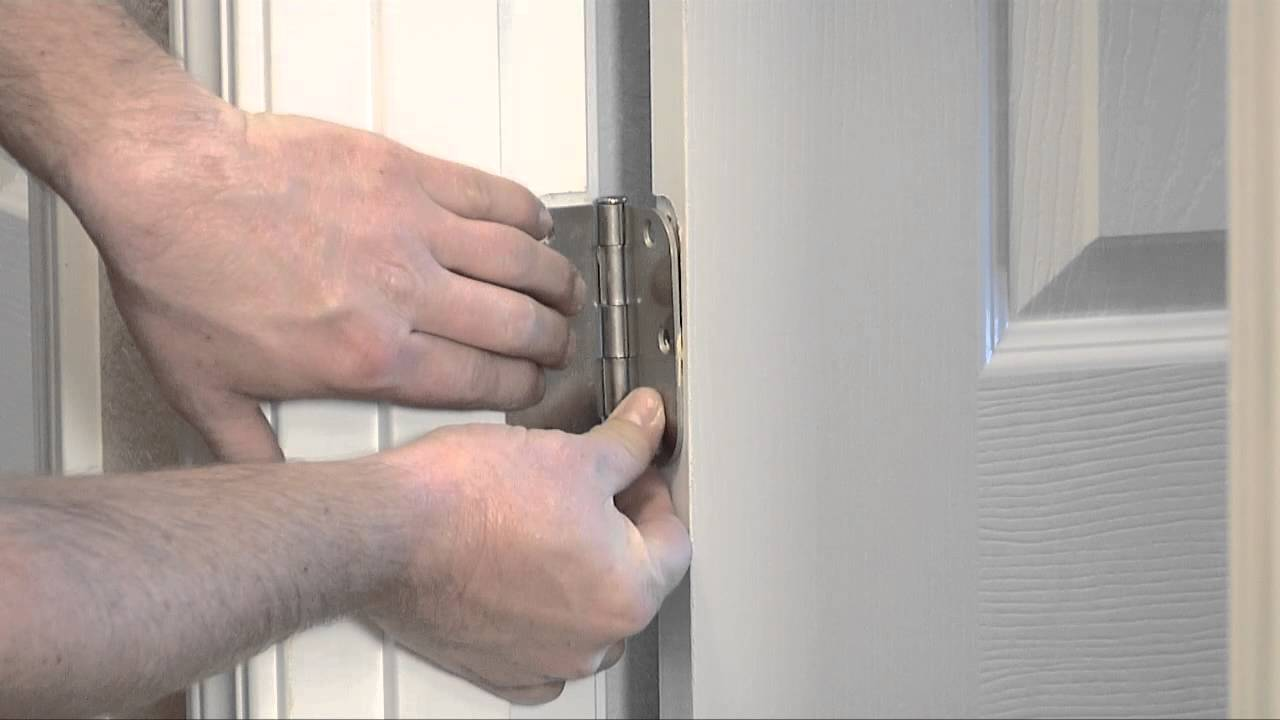 How To Remove Or Replace Interior Door Hinges Youtube