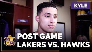 Kyle Kuzma After Lakers Snap 9 Game Losing Streak In Win Over Hawks