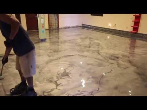 Creative Metallic Epoxy Installation - Metallic Epoxy Floor