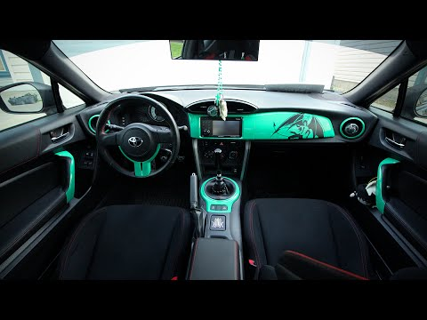 vinyl wrapping interior of the scion frs toyota gt86 youtube. Black Bedroom Furniture Sets. Home Design Ideas