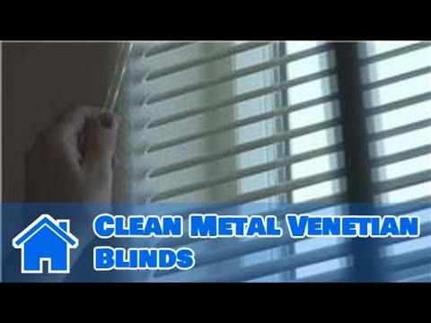 Window Blinds How To Clean Metal Venetian