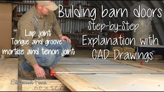 Barn Doors #2 | Building Barn Doors | From Cad Plans To End Result