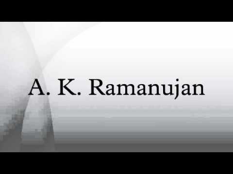 A. K. Ramanujan