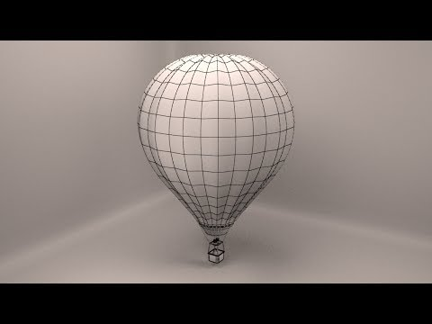 3Ds Max hot air balloon modeling - part 1/4