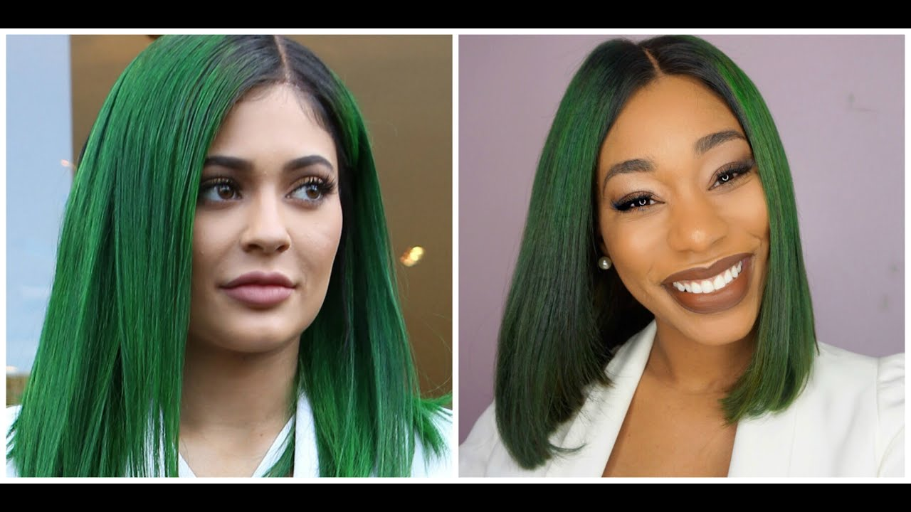 kylie jenner green hair tutorial-chimerenicole